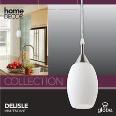 Globe Electric 64725 1 Light Hanging Pendant Light Fixture, White Finish
