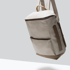ZARA - NEW THIS WEEK - MIXED COLOR SQUARE RUCKSACK