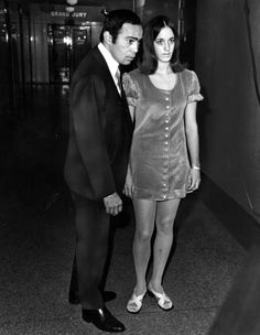 Susan Atkins, a member of the Manson Family, with her lawyer Richard Caballero, Los Angeles, 1969. Richard Caballero was appointed to represent Susan in the Gary Hinman murder case.