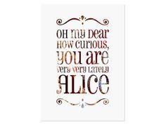 "Poster ""Alice in Wonderland"" // poster by The Golden Heart Store via DaWanda.com"