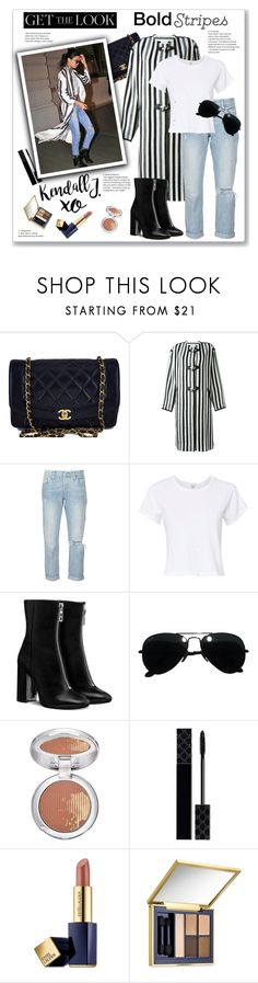 """""""Bold Stripes (2)..."""" by pomy22 ❤ liked on Polyvore featuring Chanel, Étoile Isabel Marant, Levi's, RE/DONE, Ray-Ban, xO Design, Estée Lauder, Gucci, StreetStyle and stripes"""