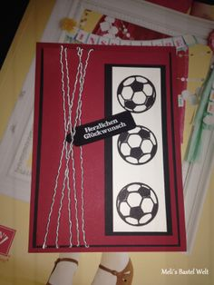 Stampin Up Geburtstagskarte, Great Sport, Birthday Card, Man Card, Männer Karte, Fußball Karte