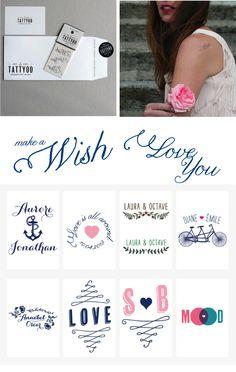 tattoo personnalisés pour cadeaux invités mariage