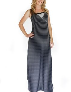 Karried Away Gray Catherine Maternity/Nursing Maxi Dress - Plus Too >>> Click image to review more details.