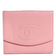 4d0ea5026f41 This is an authentic CHANEL Caviar Compact CC Wallet in Pink. This chic  wallet is crafted of luxurious caviar leather with a Chanel CC logo  embossed at the ...