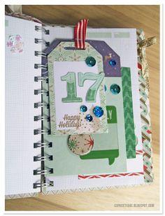 25 December Days mini album tutorial  Day 14 - 19 Christmas Journal, Christmas Scrapbook, Smash Book, 25 December Day, Mini Albums, Mini Album Tutorial, Scrapbook Journal, Mini Books, Project Life