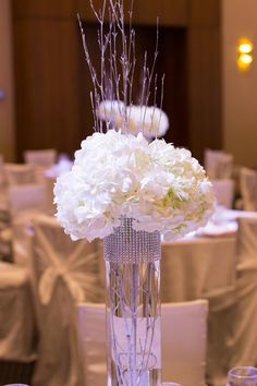 Rhinestone Trim DIY Centerpieces: Are you ready for your wedding to sparkle?? #wedding #diy