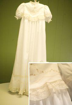 gorgeous handmade christening gown