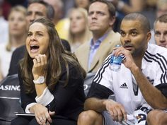 Spurs assistant coach Becky Hammon, the first ever