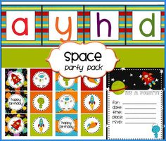 20 ideas for a Fabulous Outer Space Party + space party pack + Teen Crafts & Activities