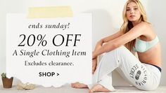Ends Sunday! Off A Single Clothing Item. Shop now. Clothing Items, Lounge Wear, Shop Now, Sunday, Clothes, Shopping, Women, Style, Outfits