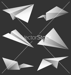 Paper airplanes vector 229933 - by timurock