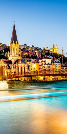 The Basilica of Notre-Dame de Fourvière is a particularly stunning landmark in Lyon, France #Lyon