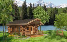 Pioneer Log Homes of BC | Guest Cabin – 320 SF