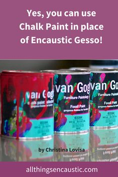 Furniture chalk paint is mineral based. No acrylic, no latex. Chalk Paint creates a perfect ground for encaustic painting – use as you would encaustic gesso. Gesso Art, Encaustic Painting, Wax Art, Chalk Paint Projects, Painting Collage, Paintings, Art Tutorials, Art Lessons, Creations