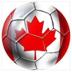 Canadian Soccer Ball Poster