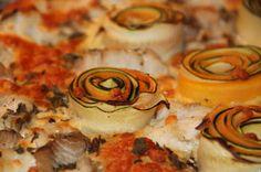 Godt og Sunt: Fiskepizza med grønnsaksroser