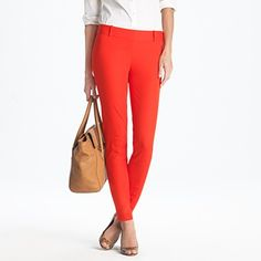 Minnie pant in vibrant flame by JCrew
