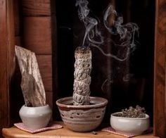 How to Burn Sage to Cleanse Homes ... that must be what it needs.  A good smudging.... with a prayer.  ;)