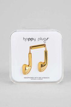 #stockingstuffer gold earbud headphones, UO