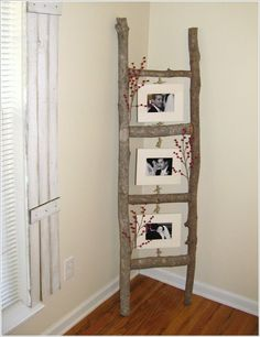old ladder on wall | DIY: 24 Easy ways to reuse an old ladder at home | World inside ...