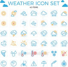 Weather icon set line items clouds Vector Image , Free Vector Images, Vector Free, Connect Logo, Pixel Font, Sports Fonts, Brewery Logos, Cloud Icon, Cloud Vector, Day Care