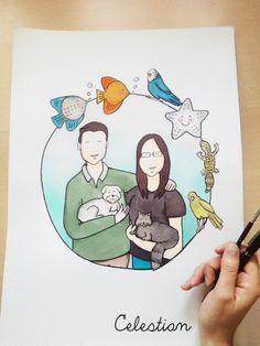 ilustraciones personalizadas Celestian #handmade www.celestianshop.com