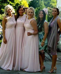 The beautiful bridesmaids & friends
