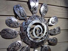 flower made from recycled propane tank! Love!