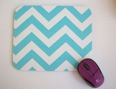 From the blue hue to the zigzag pattern, we are loving this mouse pad!