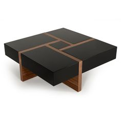 Oney Coffee Table with Storage - Keramik Projekte Modern Square Coffee Table, Walnut Coffee Table, Cool Coffee Tables, Decorating Coffee Tables, Coffee Table With Storage, Contemporary Coffee Table, Centre Table Living Room, Center Table, Wood Table Design