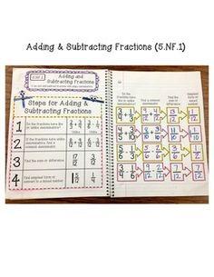 5th Grade Interactive Math Notebook - Fractions