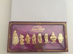 "disney imagination gala snow white & the seven dwarfs pin boxed set limited 250 Features: 3D Sculpted Metal Dimensions: 2.5"" snow white jumbo pin 1.75"" Seven Dwarfs new"