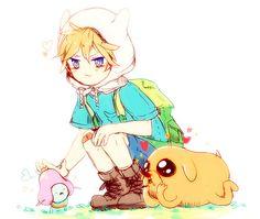 Finn The Human - Adventure Time Cartoon Disney, Cartoon As Anime, Cartoon Tv Shows, Cute Cartoon, Adventure Time Cartoon, Adventure Time Finn, Princess Adventure, Fin And Jack, Finn The Human