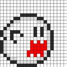 Boo ghost perler bead pattern