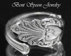 Anillo de cuchara Vintage Campbells Kid Boy por Bentspoonjewelry