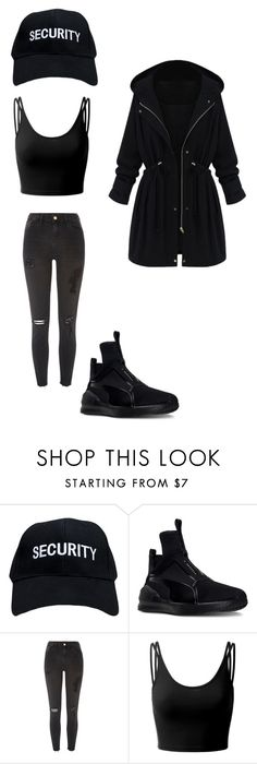 """Untitled #60"" by mycleo on Polyvore featuring Puma, River Island, Doublju and WithChic"
