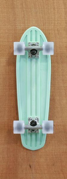 """Globe 24"""" Bantam Mint / Raw / Clear Grey Longboard Complete    http://www.thelongboardstore.com/longboards/globe/24-bantam-mint-complete/"""