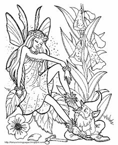 FAIRY FLOWER coloring pages : 6 FAIRY World coloring ...