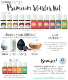 I love the Premium Starter Kit from Young Living and I think you will too! The Premium starter kit is ideal for beginners to essential oils, because it comes with everything you need to get started…