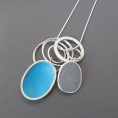 Enamel Pebble Pendant | Contemporary Necklaces / Pendants by contemporary jewellery designer Grace Girvan