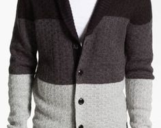 Tejido a mano de los hombres aran cardigan de cuello alto suéter cardigan los hombres ropa aran de tejido de lana hecho a mano hombres cableado cuello redondo