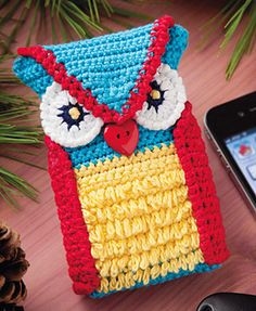 Ravelry: Woodsy Owl Phone Case pattern by Leandra LeMaster