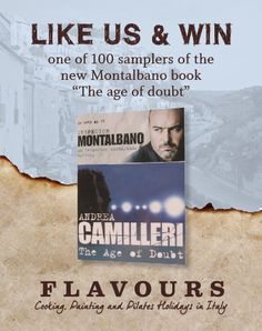 """Would you like to #win a sampler of the new #Montalbano book """"The Age of Doubt""""? Simply LIKE us @ http://facebook.com/FlavoursofItaly"""