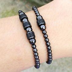 Details about Hot Men's Rhodium Plated Micro Pave Black CZ Ball Macrame Bracelet Anil Arjandas Macrame Bracelets, Jewelry Bracelets, Jewelery, Men's Jewelry, Jewelry Watches, Loom Bracelets, Friendship Bracelets, Bracelets For Men, Fashion Bracelets