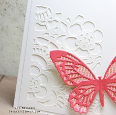 Create a clean and simple card using dies by Tim Holtz!