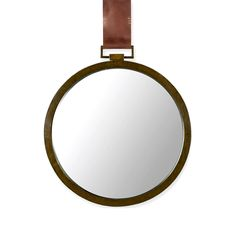 Reflect on the cool lines and rugged style of this wall mirror. It hangs from a tobacco leather strap for a dash of style inspired by old-fashioned pocketwatches.  Find the Lake House Mirror, as seen in the The Cobbler's Studio Collection at http://dotandbo.com/collections/the-cobblers-studio?utm_source=pinterest&utm_medium=organic&db_sku=100530