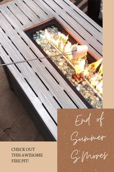 End of summer s'mores with this awesome new fire pit. #ad Fire Pit Table, Patio Heater, Fire Pit Backyard, Diy Home Improvement, Family Activities, Family Life, Kids Room, Decor Ideas, Rustic