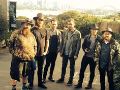 Ásgeir and his band enjoying the sights in Sydney, July 2014.