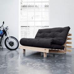 Roots Buy sofa bed from Karup Design Connox Wohndesign-Shop. Futon Sofa Bed, Futon Mattress, Canapé Design, House Design, Interior Design, Sofas, Palette, Folding Beds, Buy Sofa